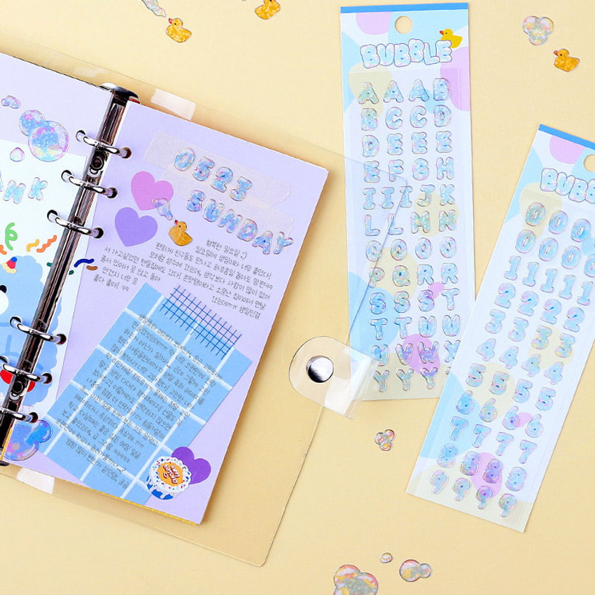 Usage example - Wanna This Bubble hologram silver line translucent sticker