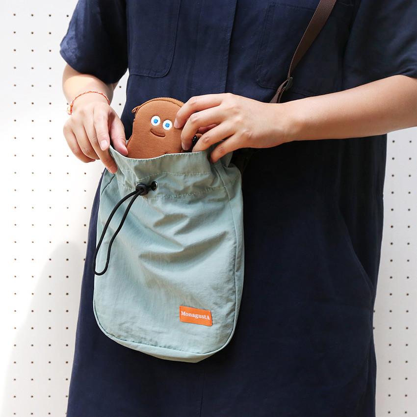 AZUL CLARO - ROMANE MonagustA nylon drawstring crossbody bag