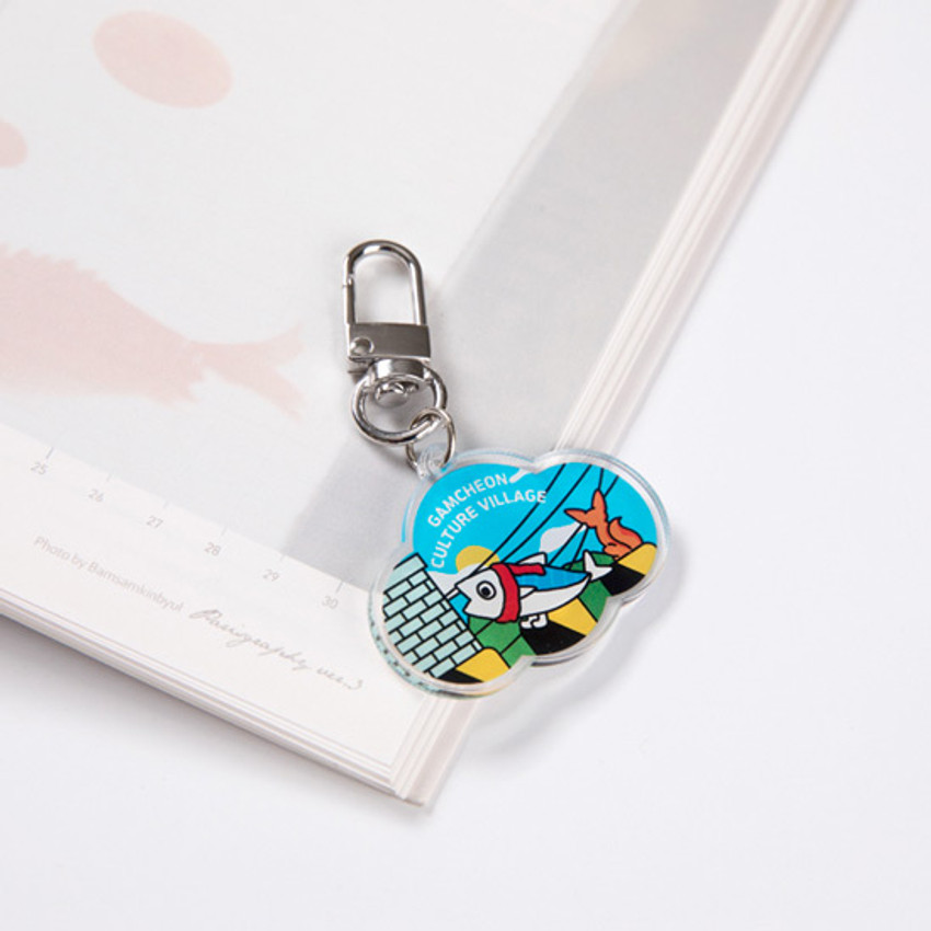 Usage example - DESIGN IVY Busan Ggo deung o acrylic keyring key holder