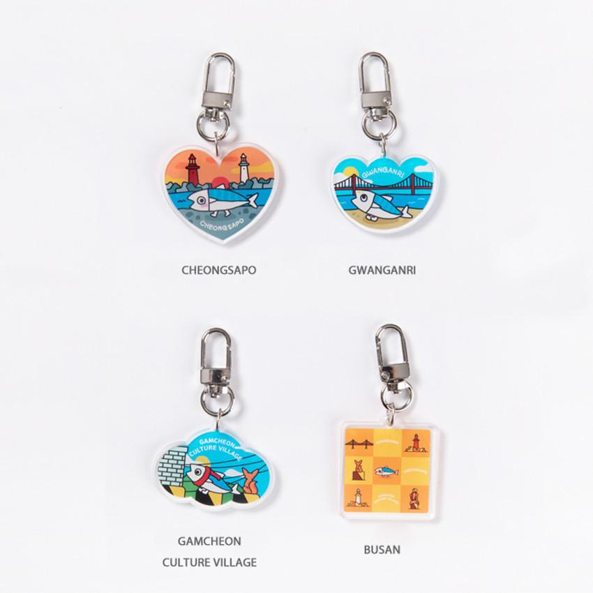 Option - DESIGN IVY Busan Ggo deung o acrylic keyring key holder