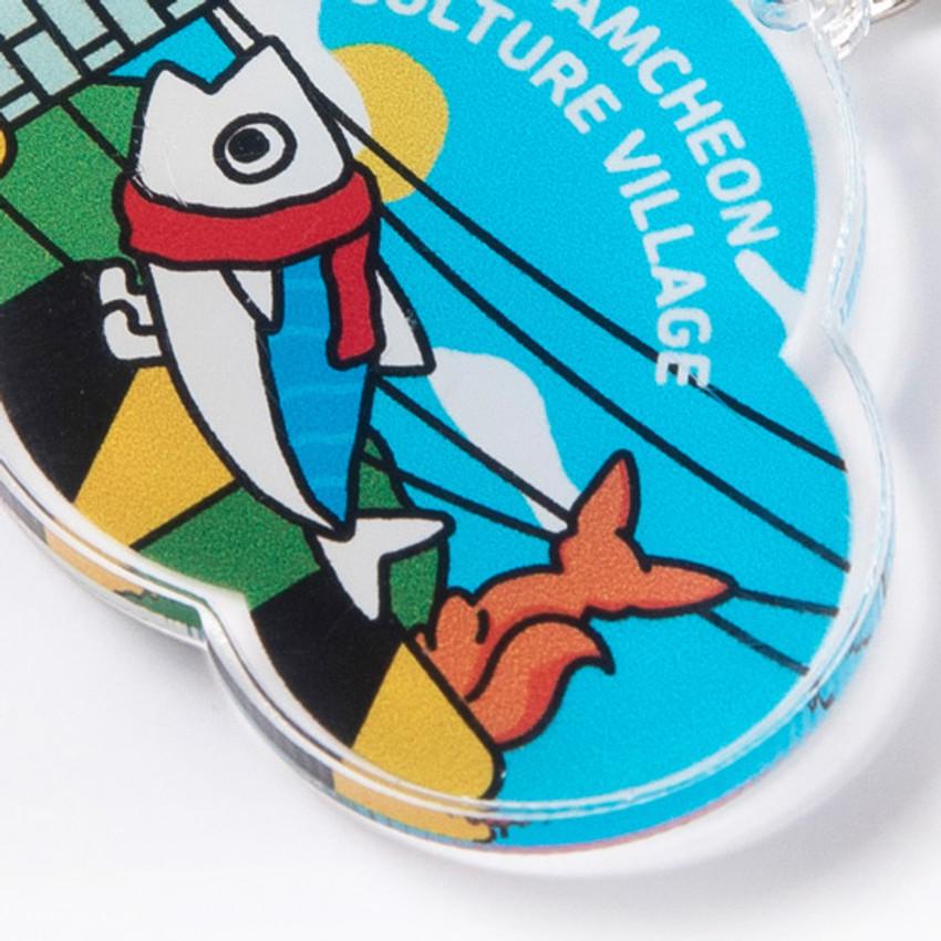 Cute design - DESIGN IVY Busan Ggo deung o acrylic keyring key holder