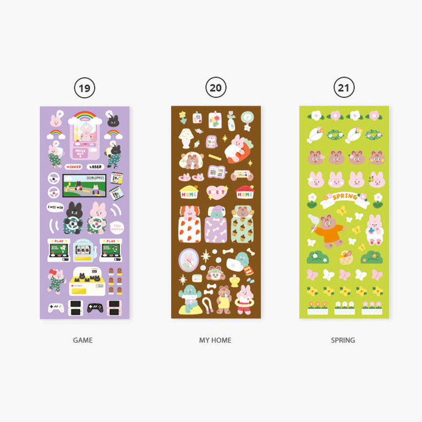 Option - Second Mansion Juicy bear removable sticker seal 16-24
