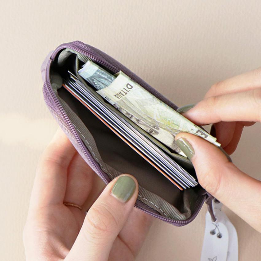 Inner pocket - ICONIC Cottony flat zipper card holder case