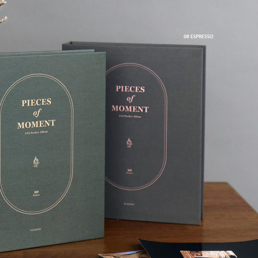 08 Espresso - ICONIC Pieces of moment 4X6 slip in the pocket photo album