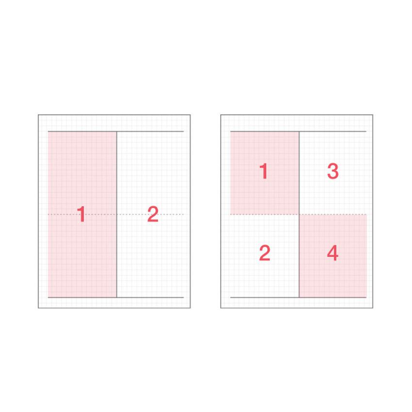 two way notebook - ICONIC Basic mathematics spiral bound grid notebook