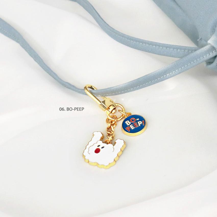 06 Bo-peep - ICONIC Merry metal keyring key clip key chain