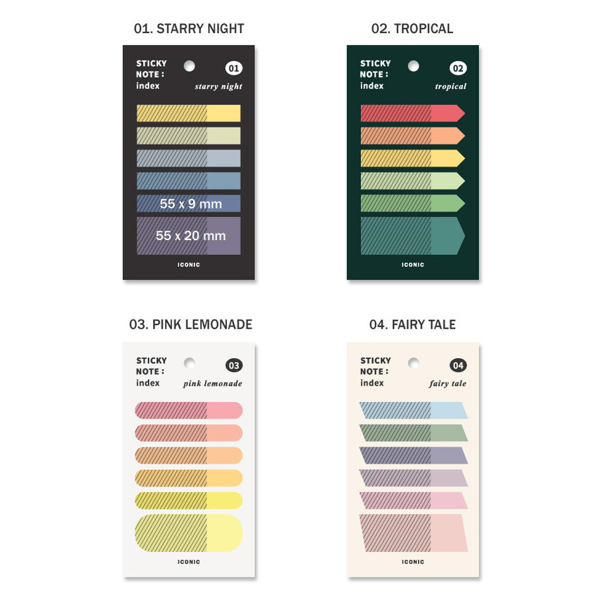 Option  - ICONIC Index sticky memo point bookmark set