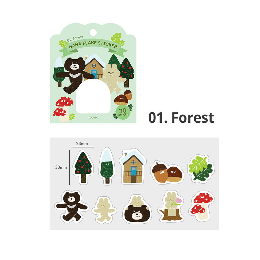 01 forest - ICONIC Nana cute sticker pack