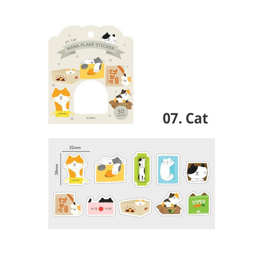 07 cat - ICONIC Nana cute sticker pack