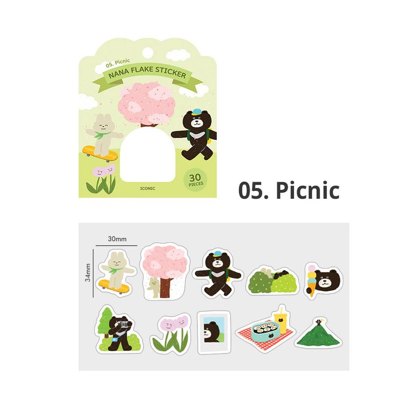 05 Picnic - ICONIC Nana cute sticker pack