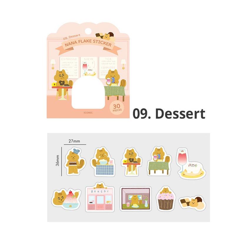 09 dessert - ICONIC Nana cute sticker pack