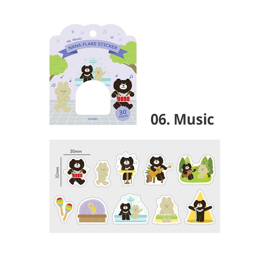 06 Music - ICONIC Nana cute sticker pack