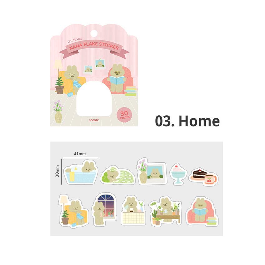 03 Home - ICONIC Nana cute sticker pack
