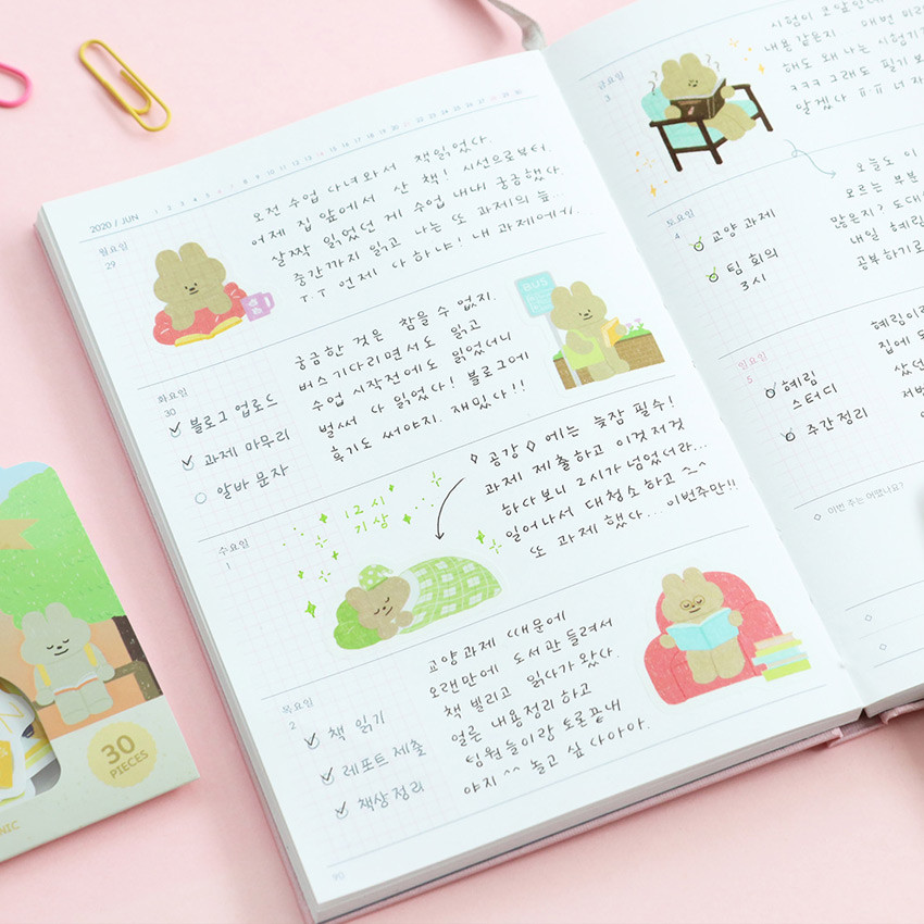 Usage example - ICONIC Nana cute sticker pack