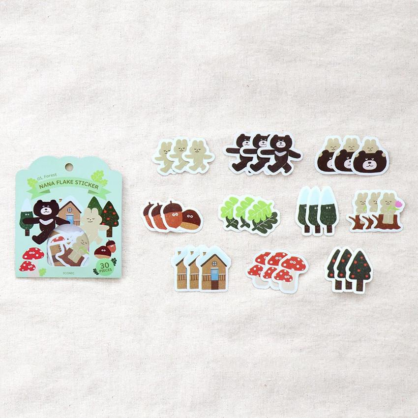 30 sheets - ICONIC Nana cute sticker pack