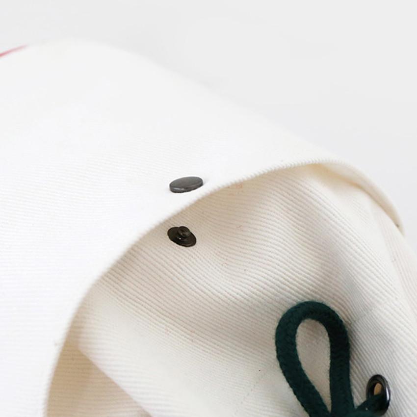 Front pocket - ROMANE Cherry cotton crossbody bucket bag ver2