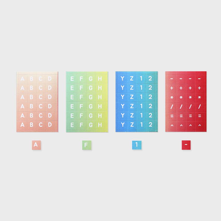 NACOO ABC Alphabet gradation sticker set