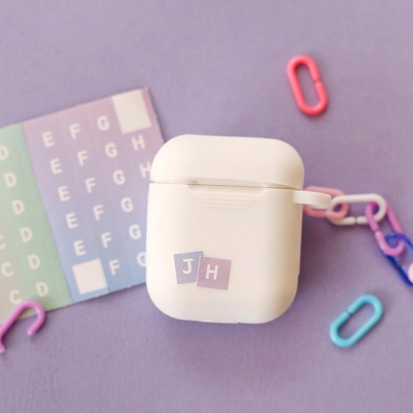 Usage example - NACOO ABC Alphabet gradation sticker set