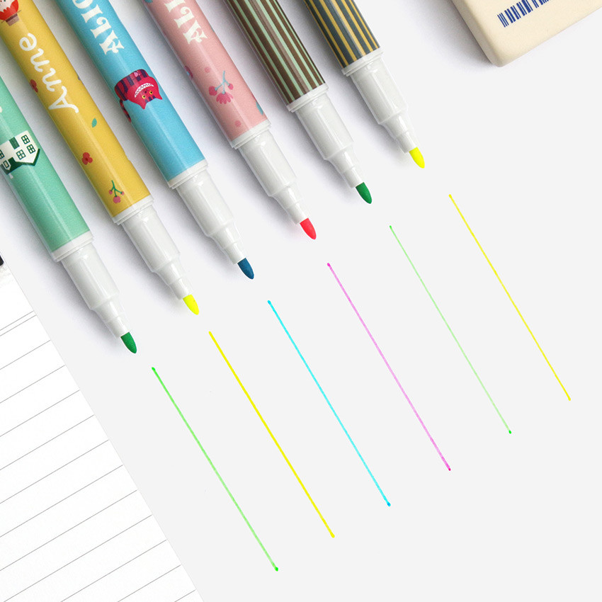 Fine tip - Bookfriends World literature double ended highlighter set