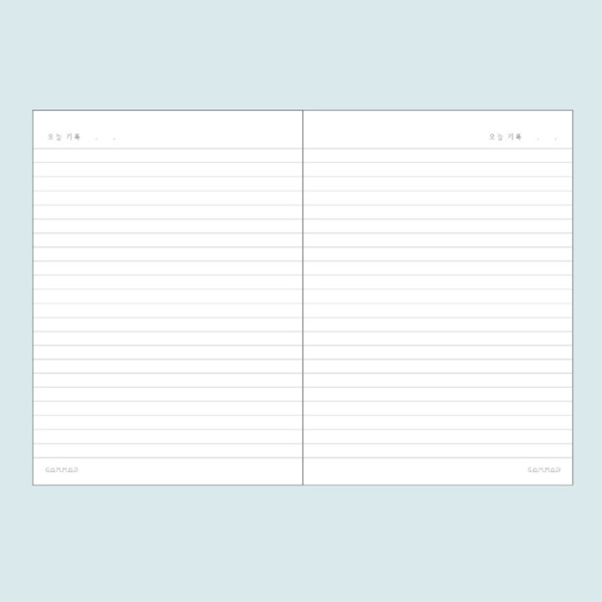 Lined pages - DESIGN GOMGOM My You Common days wire-bound lined notebook