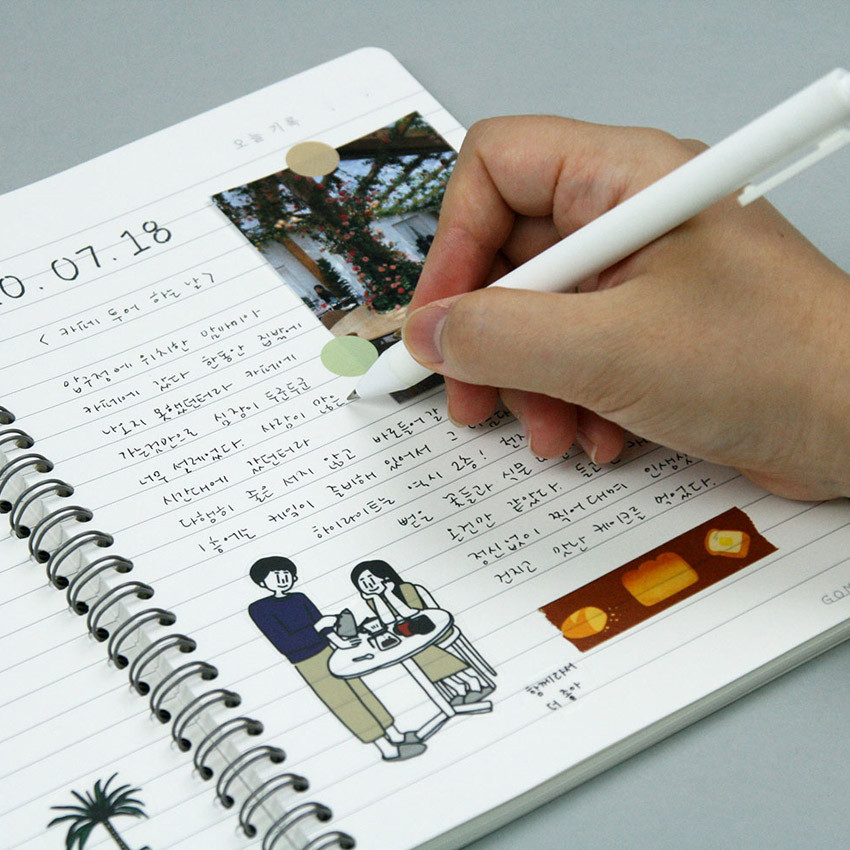 Usage example - DESIGN GOMGOM My You Common days wire-bound lined notebook