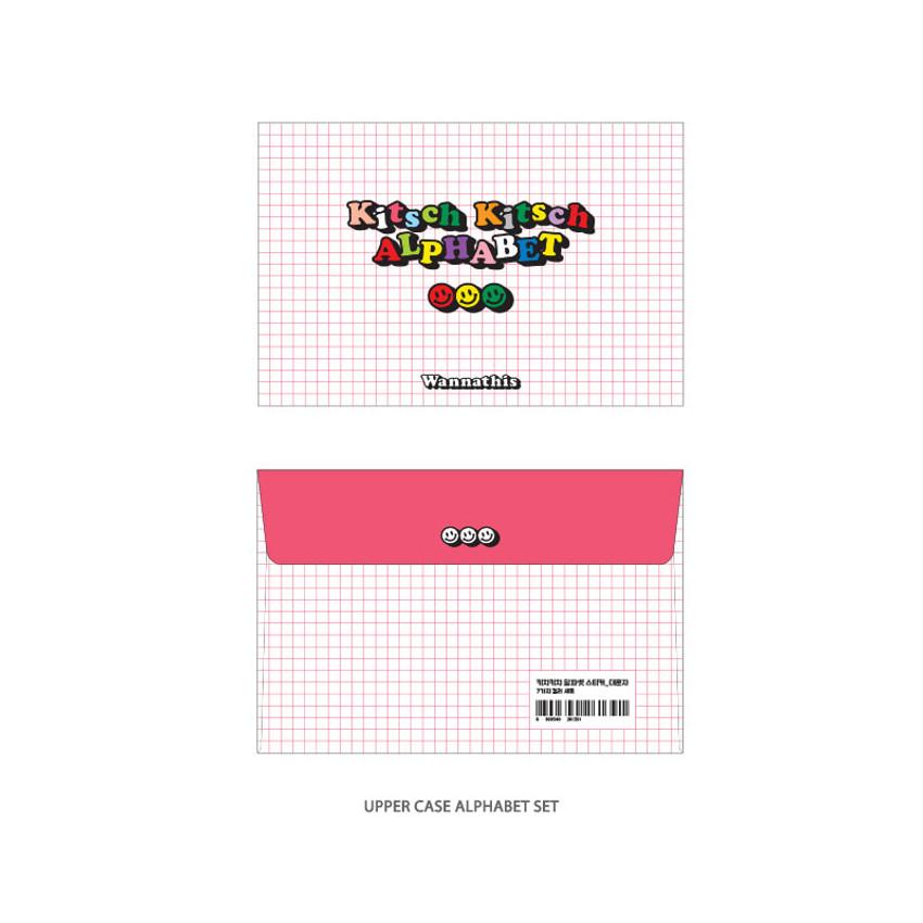 Upper case Alphabet - Wanna This Kitsch kitsch Alphabet and Number sticker set