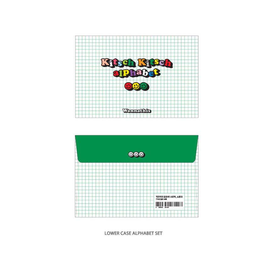 Lower case Alphabet - Wanna This Kitsch kitsch Alphabet and Number sticker set