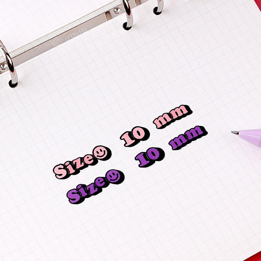 Sticker size - Wanna This Kitsch kitsch Alphabet and Number sticker set