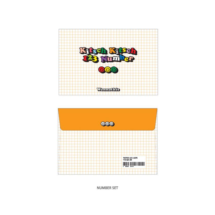 Number - Wanna This Kitsch kitsch Alphabet and Number sticker set