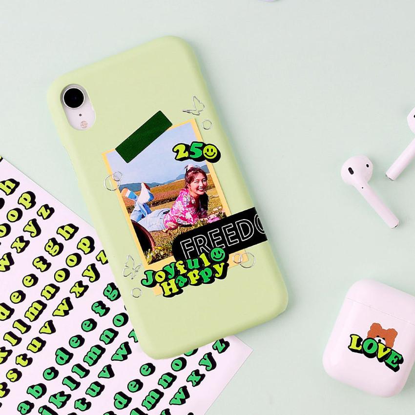 Usage example - Wanna This Kitsch kitsch Alphabet and Number sticker set