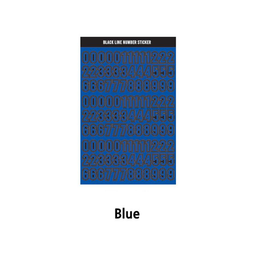 Blue - Wanna This Blackline Number sticker
