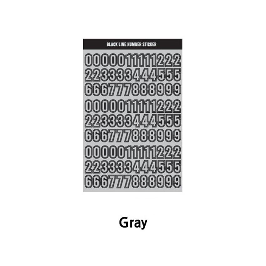 Gray - Wanna This Blackline Number sticker