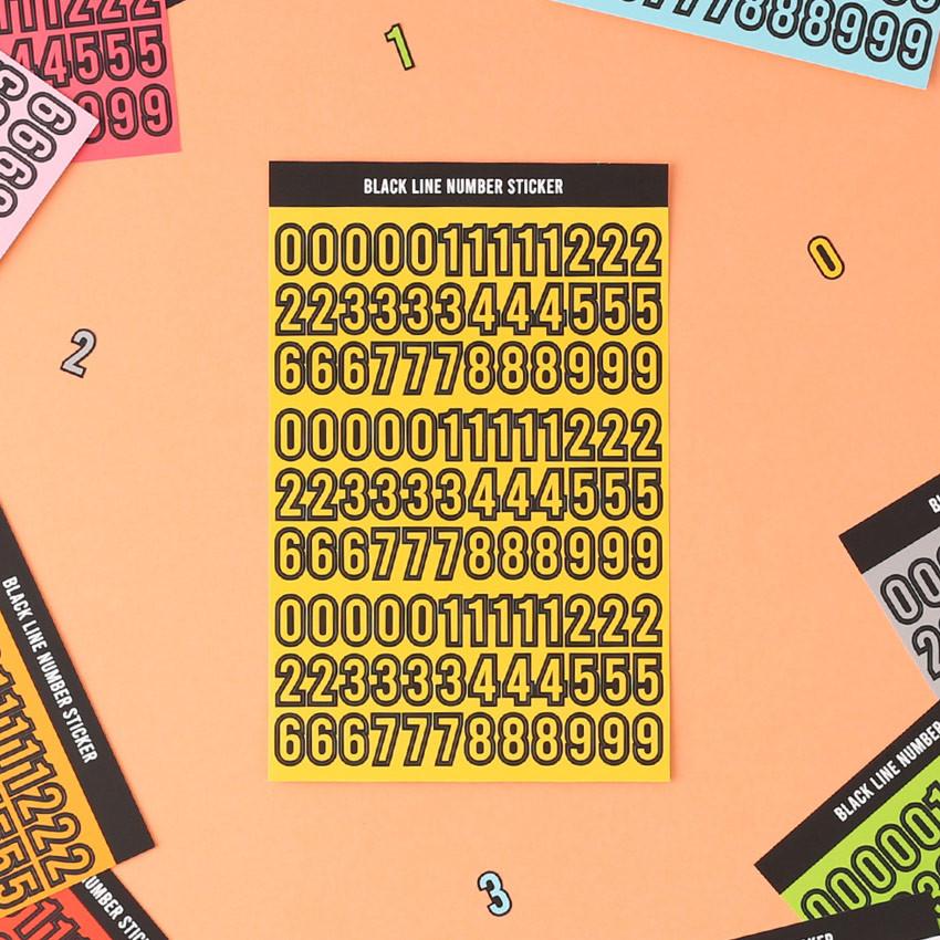 Wanna This Blackline Number sticker