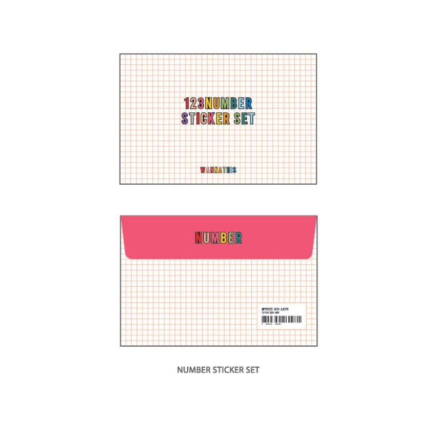Number set - Wanna This Blackline Alphabet and Number sticker set