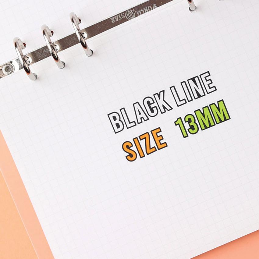 Letter size - Wanna This Blackline Alphabet and Number sticker set