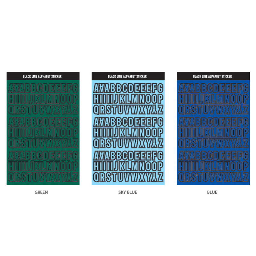 Alphabet set - Wanna This Blackline Alphabet and Number sticker set