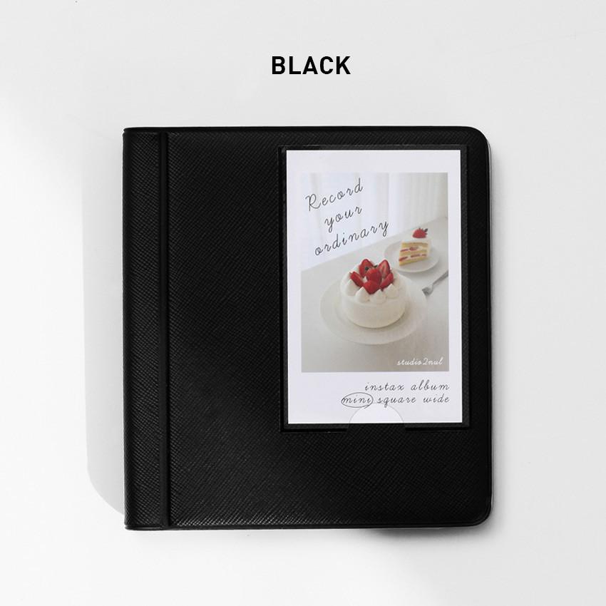 Black - 2NUL Instax mini slip in the pocket photo album