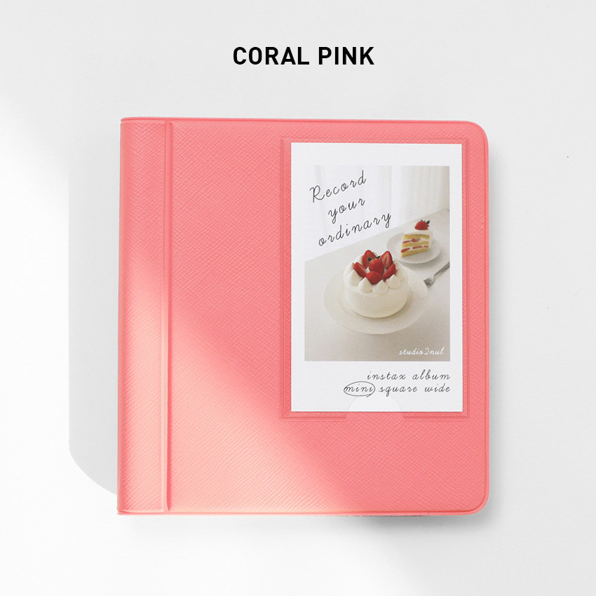 Coral pink - 2NUL Instax mini slip in the pocket photo album