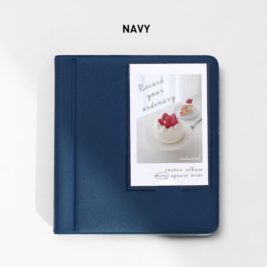 Navy - 2NUL Instax mini slip in the pocket photo album