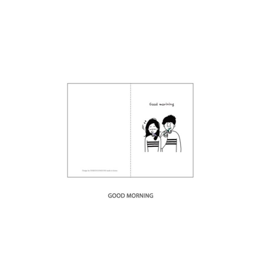 Good Morning - DESIGN GOMGOM My You mini card and envelope set