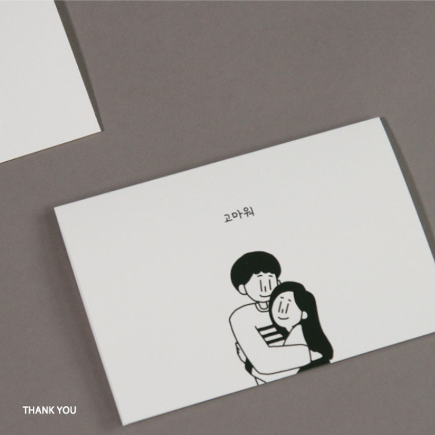 Thank You - DESIGN GOMGOM My You mini card and envelope set