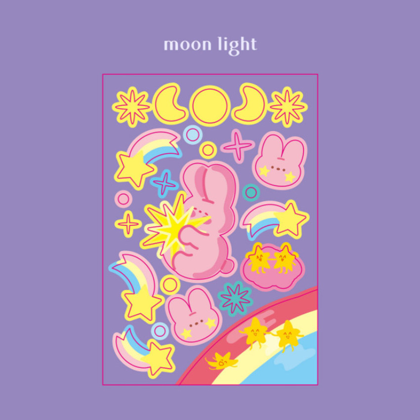 Moonlight - DESIGN GOMGOM Reeli removable glitter sticker
