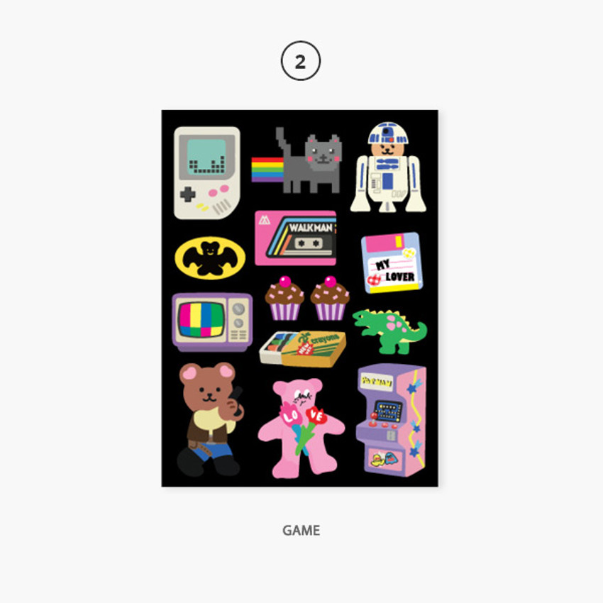 02 game - Project retro my juicy bear removable sticker