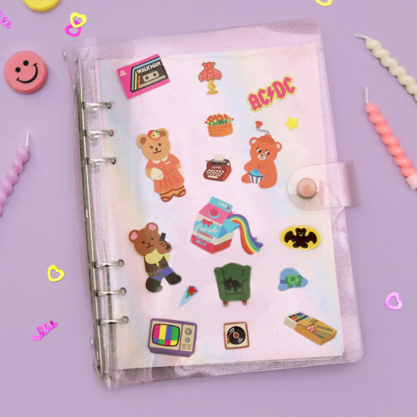 Usage example - Project retro my juicy bear removable sticker