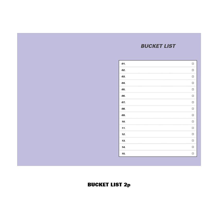 Bucket list - Ardium Colorpoint like dateless monthly planner scheduler