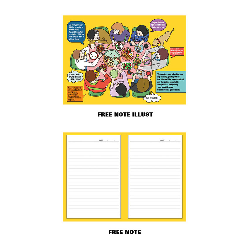 Free note illustration and lined note - Ardium Colorpoint like dateless monthly planner scheduler