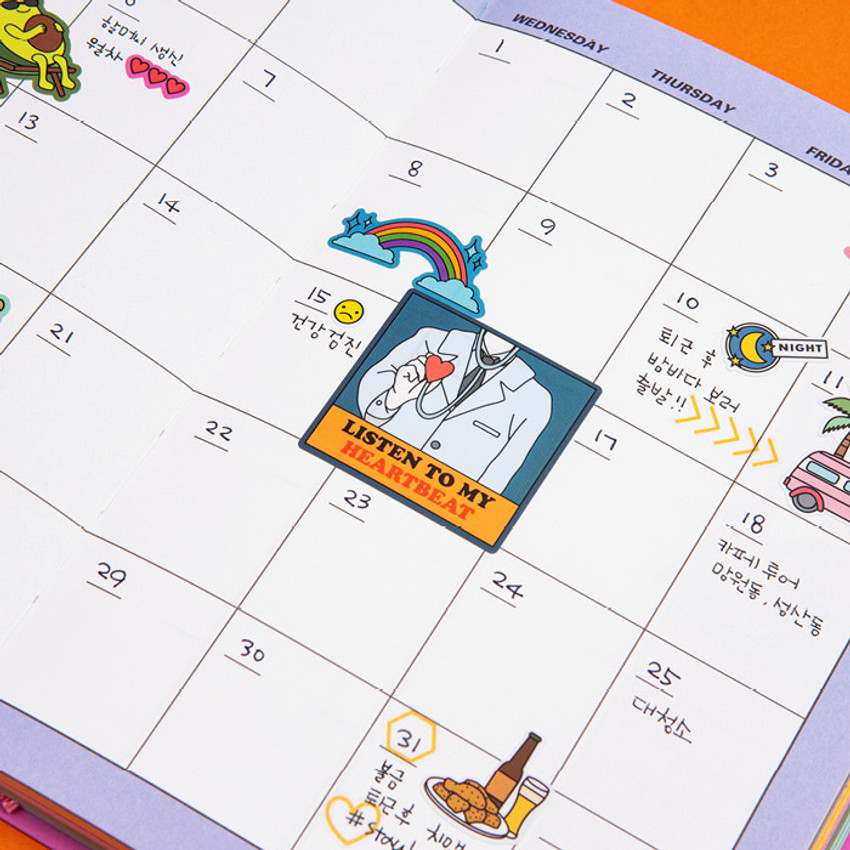 Monthly plan - Ardium Colorpoint like dateless monthly planner scheduler