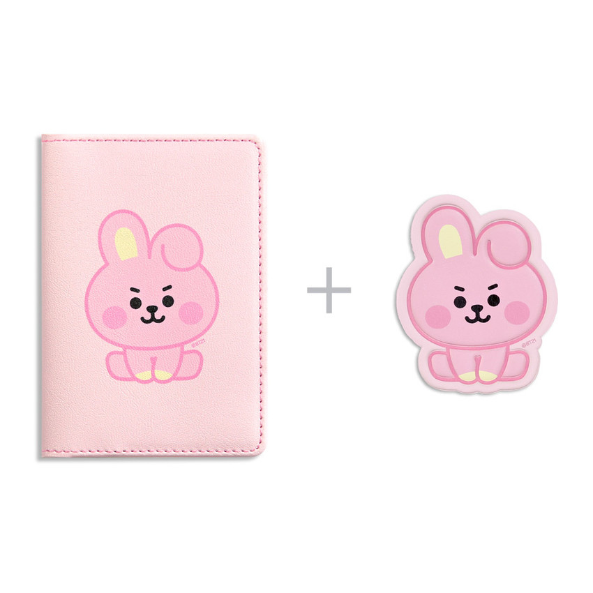 BT21 Baby card case with leather sticker