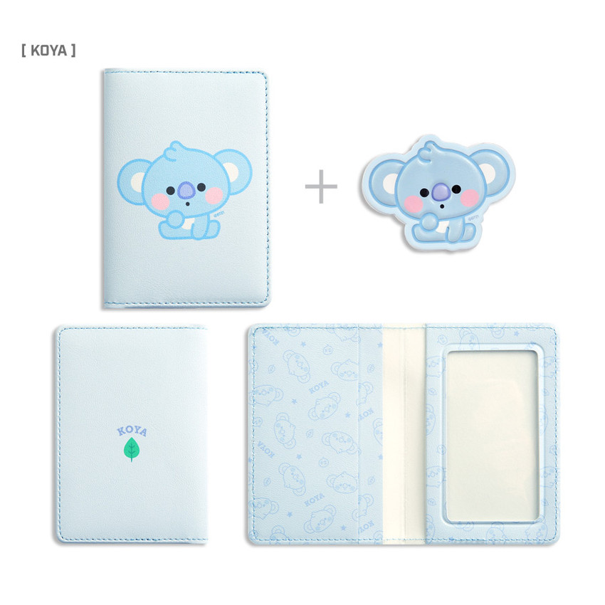 KOYA - BT21 Baby card case with leather sticker