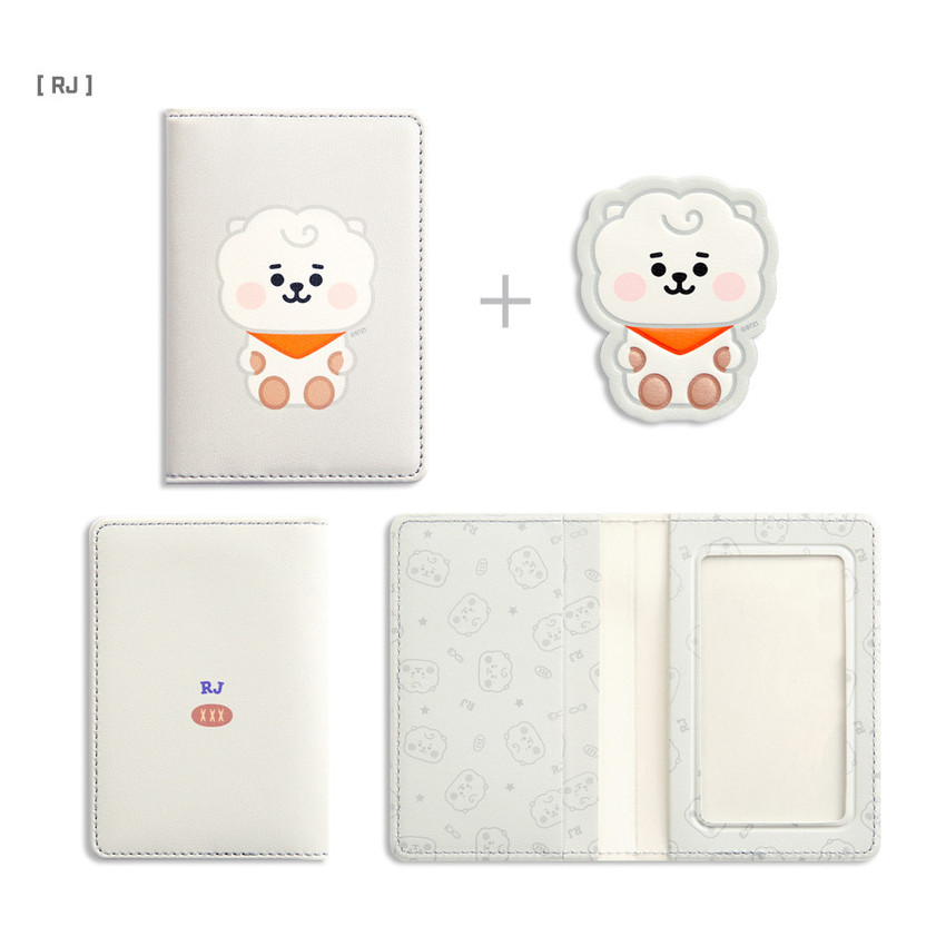 RJ - BT21 Baby card case with leather sticker